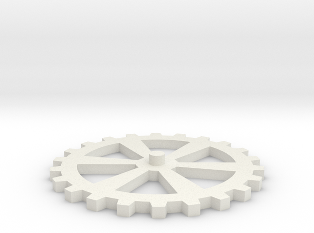 Additional Cog/Gear for Clockwork iPhone Ca in White Natural Versatile Plastic