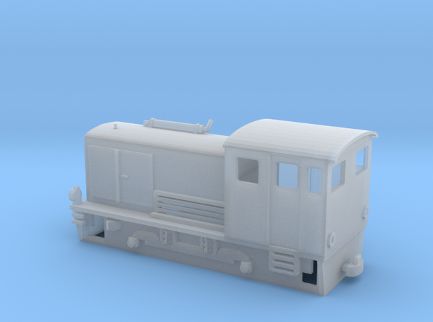 Narrow gauge H0e model diesel shunter in Smooth Fine Detail Plastic