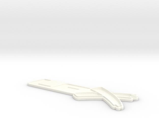LFX-emblem in White Processed Versatile Plastic