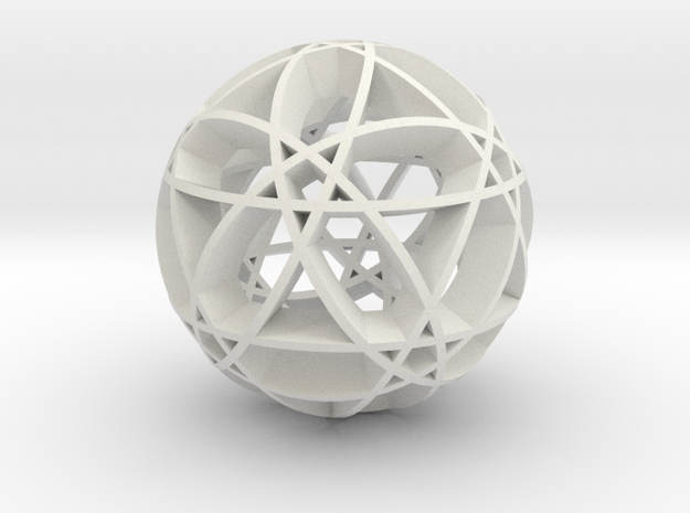 Pentragram Dodecahedron 2 in White Natural Versatile Plastic