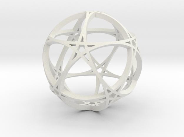 Pentagram Dodecahedron 1 (narrow, medium) in White Natural Versatile Plastic