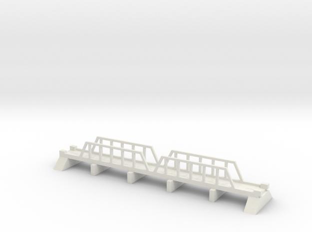 1/700 Steel Girder Road Bridge in White Natural Versatile Plastic