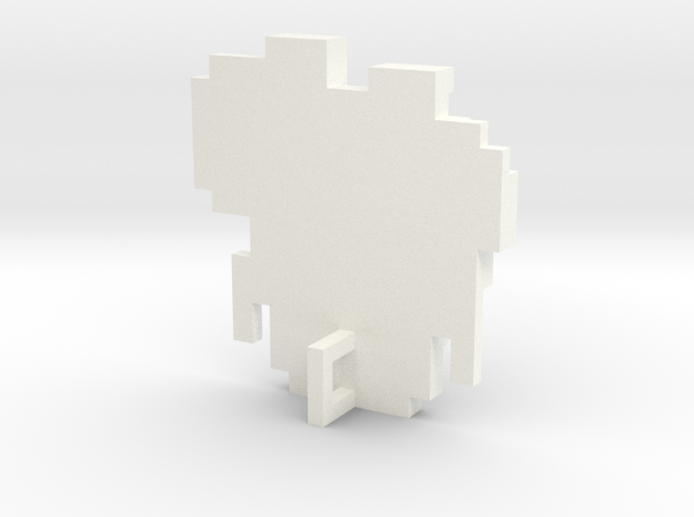 Link 8 Bit Charm in White Strong & Flexible Polished