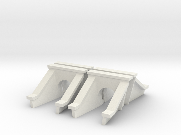 3 Foot Concrete Culvert HO Scale X 4 in White Natural Versatile Plastic