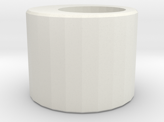 Eccentric ring in White Natural Versatile Plastic