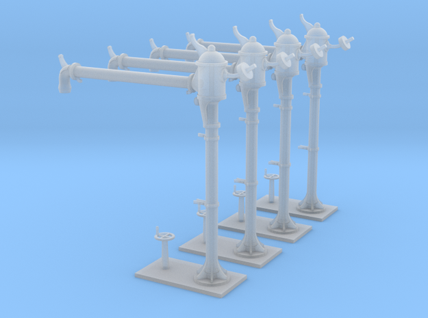 4 NMBS waterkranen / 4 colonnes SNCB (long) 3d printed