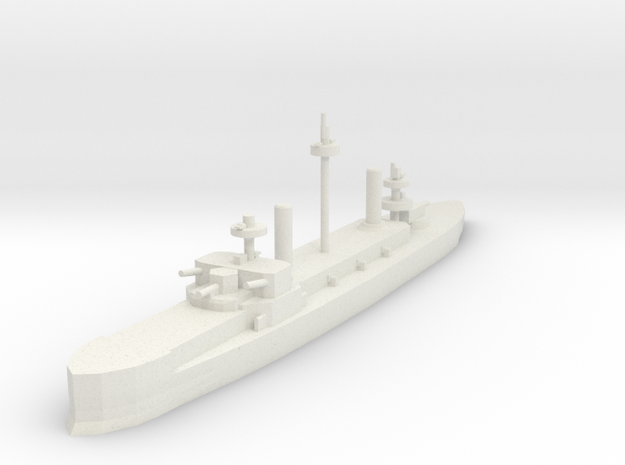 Hydra Class Ironclad 1:1200 x1 in White Strong & Flexible