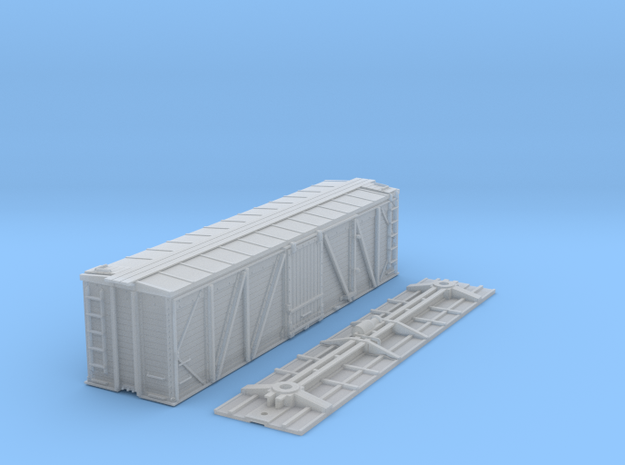 "N-Scale D&RGW ""Fowler Clone"" Boxcar (K-Brake) in Frosted Ultra Detail"