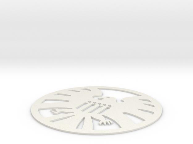 S.H.I.E.L.D. Logo Coaster in White Natural Versatile Plastic