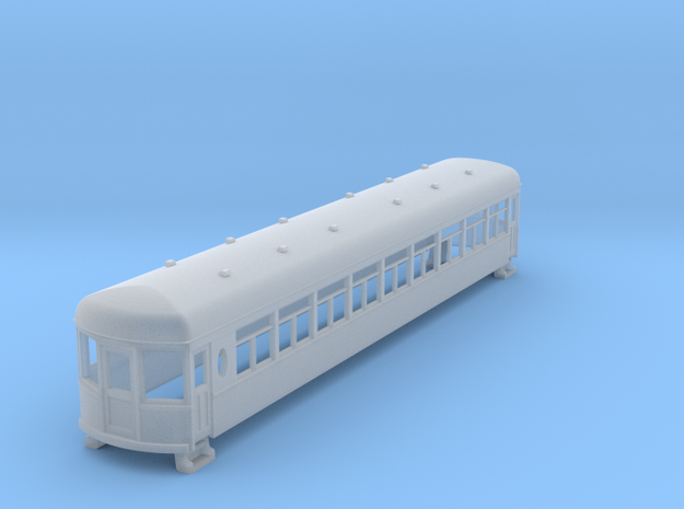N gauge 55ft interurban coach arch roof in Frosted Ultra Detail