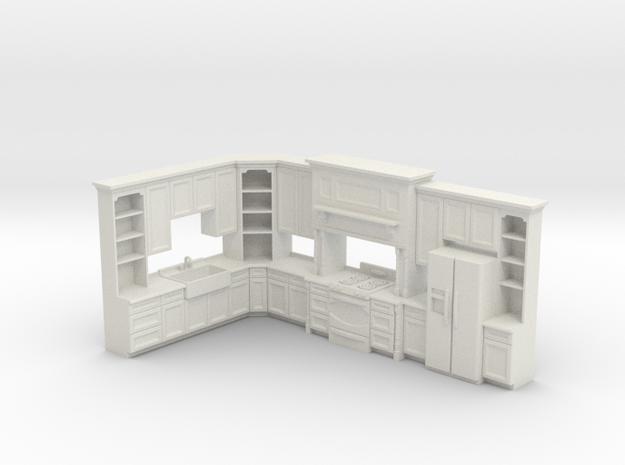 1:48 Farmhouse Kitchen D in White Natural Versatile Plastic