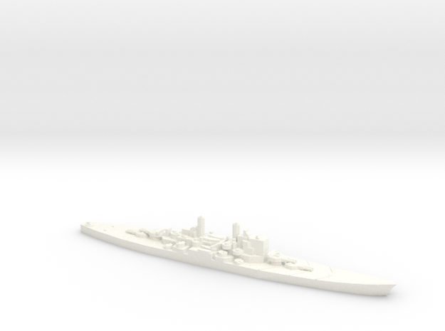 1/2400 HMS Vanguard in White Strong & Flexible Polished
