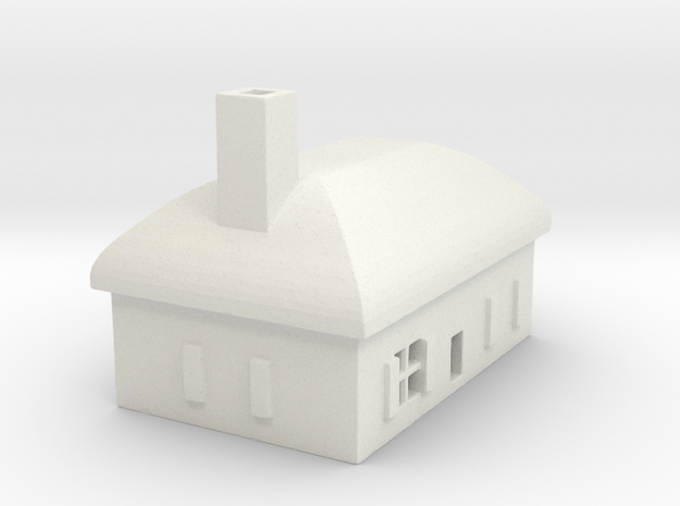 1/700 Villiage House 6 in White Natural Versatile Plastic