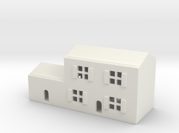 1/700 Town House 3 in White Natural Versatile Plastic