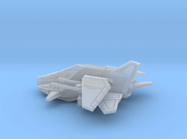 Space Ship 01 in Smooth Fine Detail Plastic