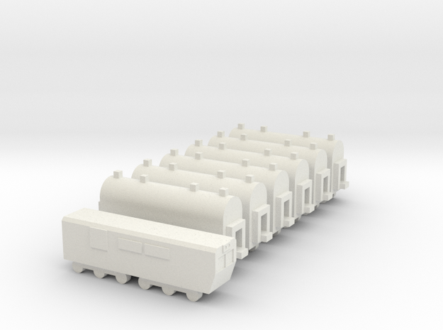 1/700 Passenger Train Set 3d printed