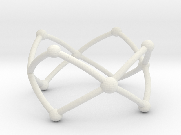 Frustrated Chain ring larger in White Natural Versatile Plastic