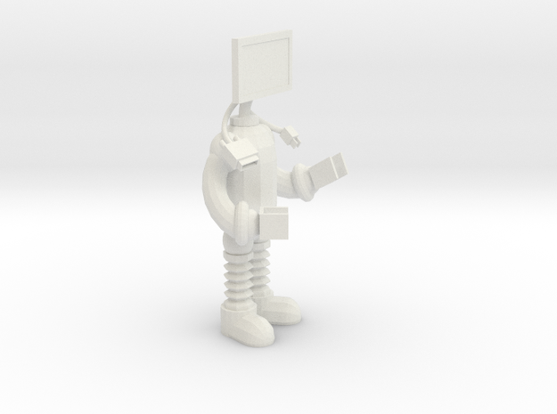 miniMonitorMan in White Natural Versatile Plastic