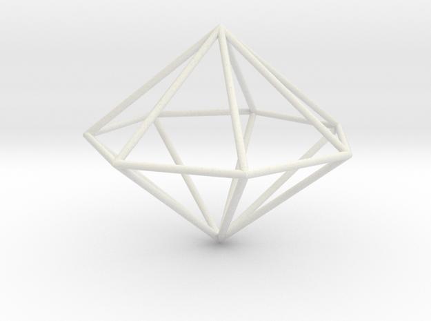 heptagonal dipyramid 70mm 3d printed