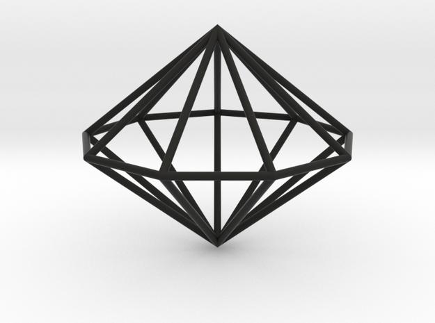 Nonagonal dipyramid 70mm 3d printed