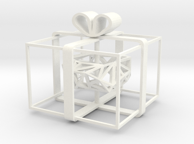 Triangulated Ring in Minimal Gift Box 3d printed