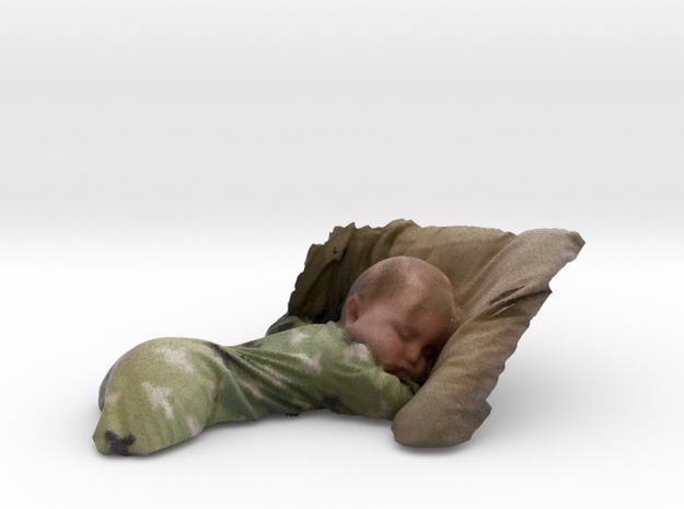 Sleeping Baby  in Full Color Sandstone