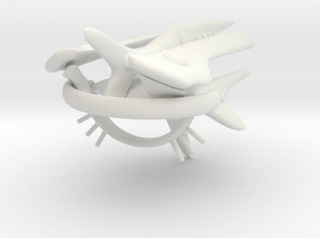 Jujoban Heavy Battleship (alternate) in White Natural Versatile Plastic