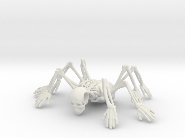 Skeleton spiderMan in White Natural Versatile Plastic