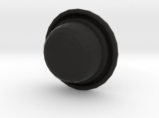 Bowler (rounder top) in Black Natural Versatile Plastic