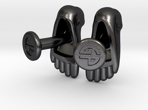Feet Cufflinks 3d printed