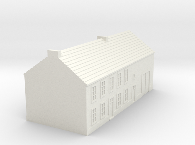 1/350 Barn House 1 in White Natural Versatile Plastic