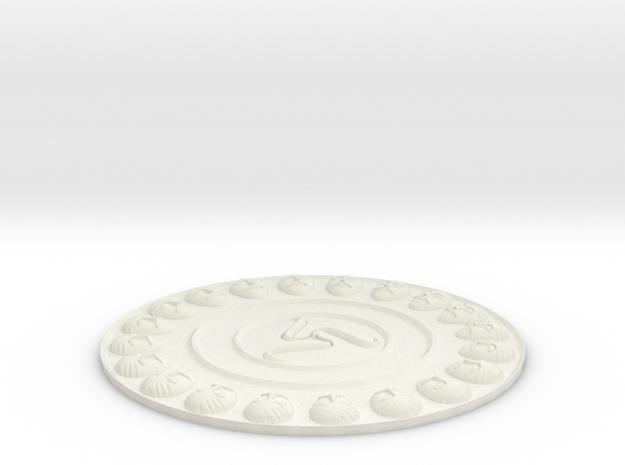 Falera, Celtic ornaments in White Natural Versatile Plastic