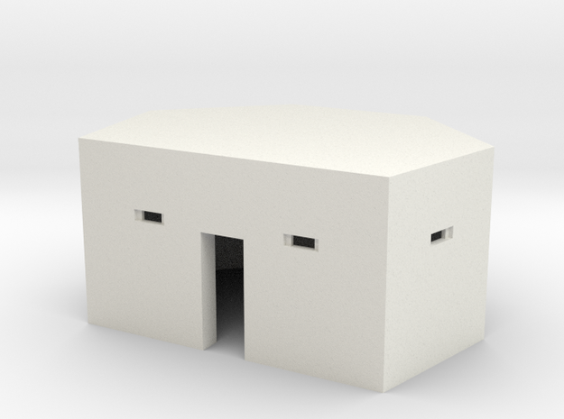 Type 24 Pillbox 4mm scale in White Natural Versatile Plastic