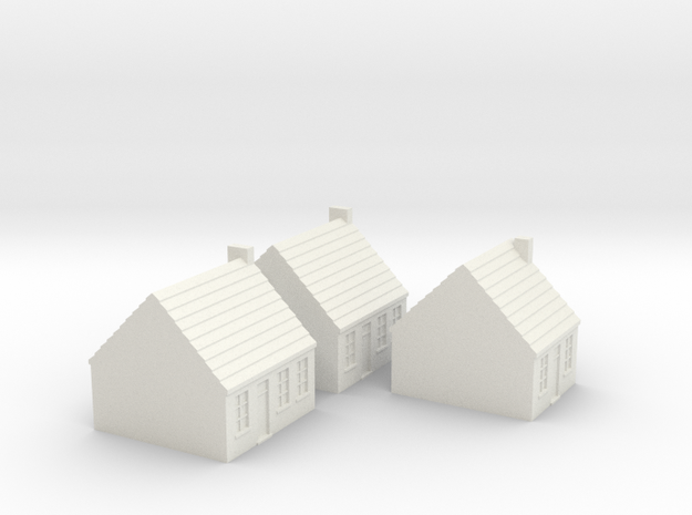 1/350 Town Houses 1 in White Natural Versatile Plastic