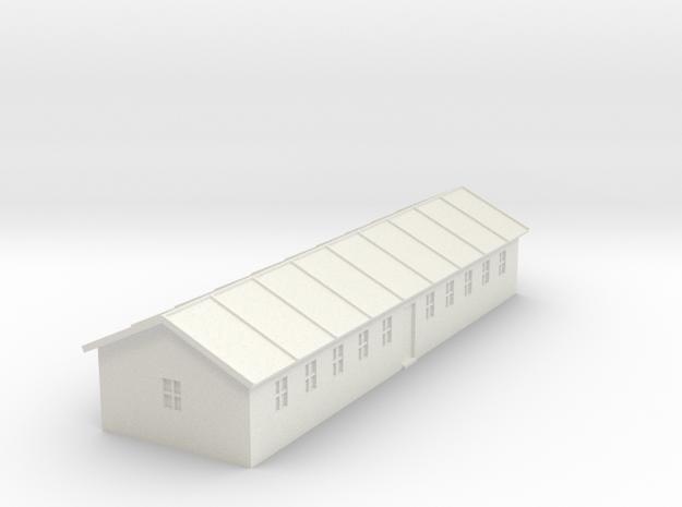 1/350 Barracks 2 in White Natural Versatile Plastic