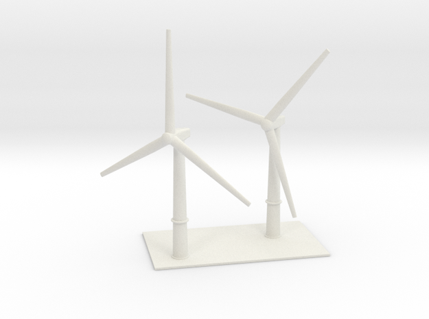 1/700 Wind Farm (x2 Turbines) 3d printed