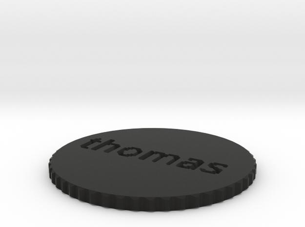 by kelecrea, engraved: thomas  3d printed