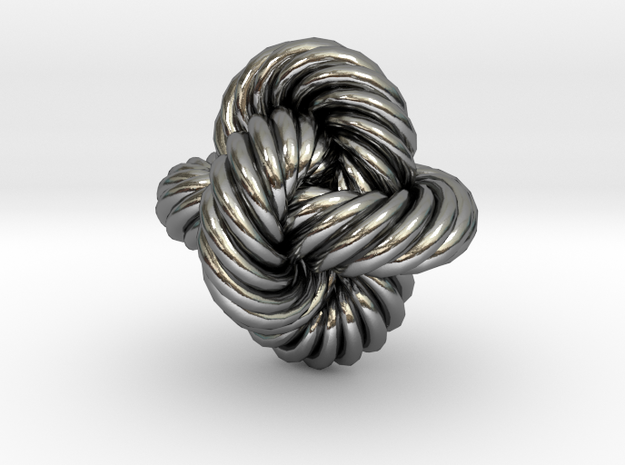 Rope Bead (S) in Polished Silver