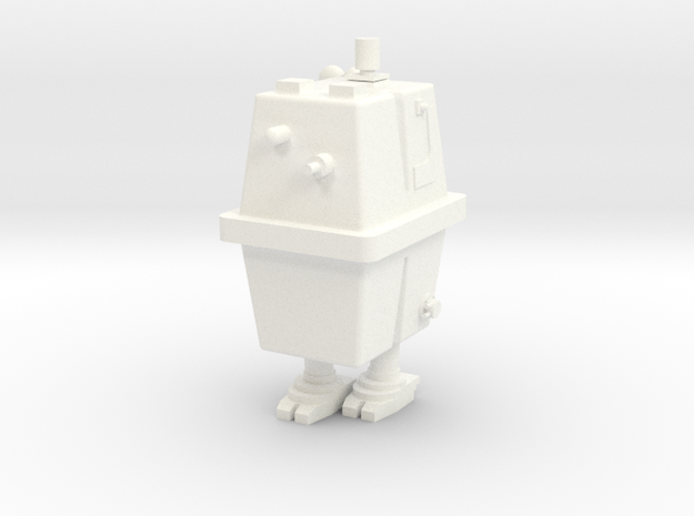 1/48 O Scale Box Robot 1 in White Processed Versatile Plastic