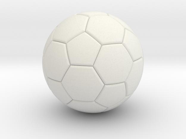 Soccer in White Strong & Flexible