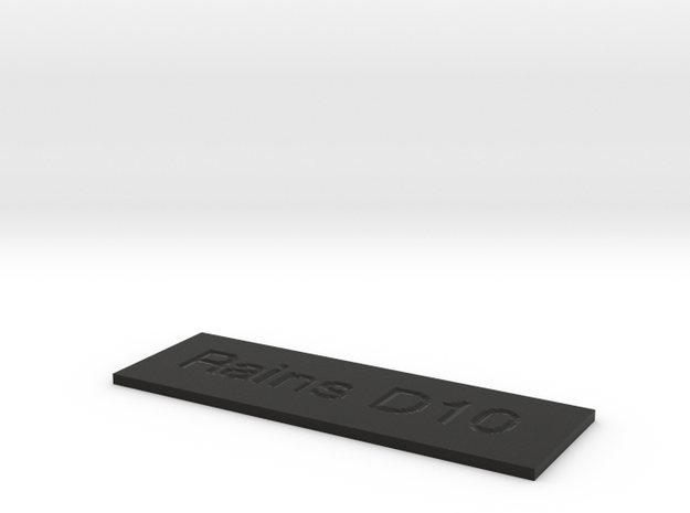 by kelecrea, engraved: Rains D10 Pedal Steel Guita 3d printed