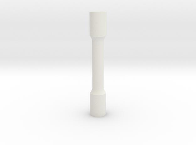 tensile bar in White Natural Versatile Plastic