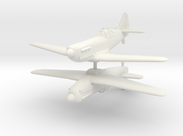 1/200 Dewoitine D.520 (x2) in White Strong & Flexible