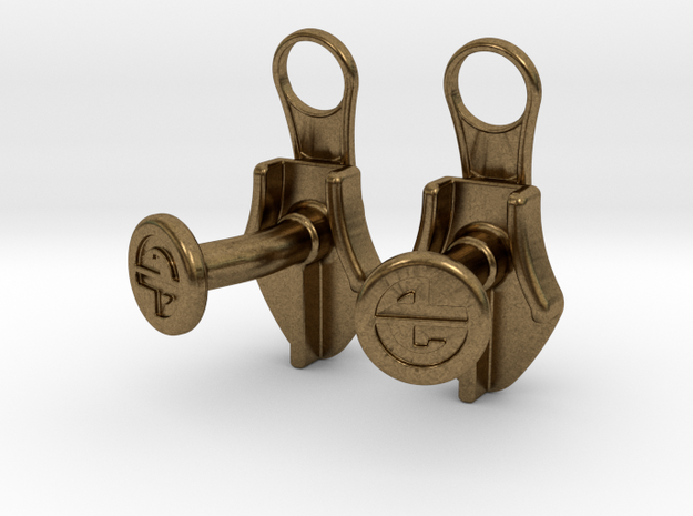 Zipper Cufflinks 3d printed
