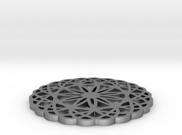 Doily pendant 3d printed