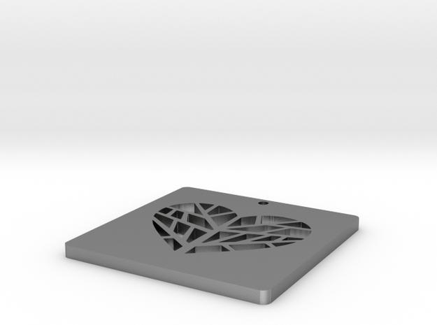 Heart tree pendant 3d printed