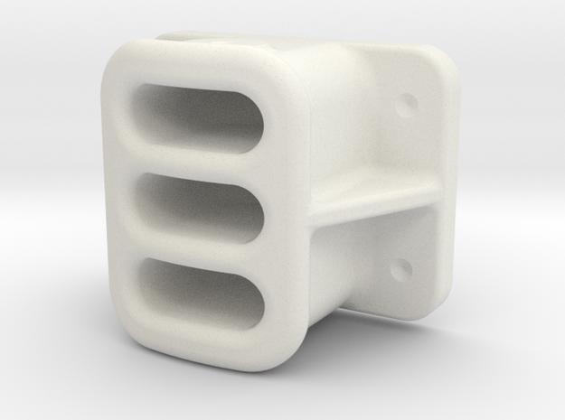 "1"" SCALE, BALDWIN, PILOT, COUPLER POCKET in White Natural Versatile Plastic"