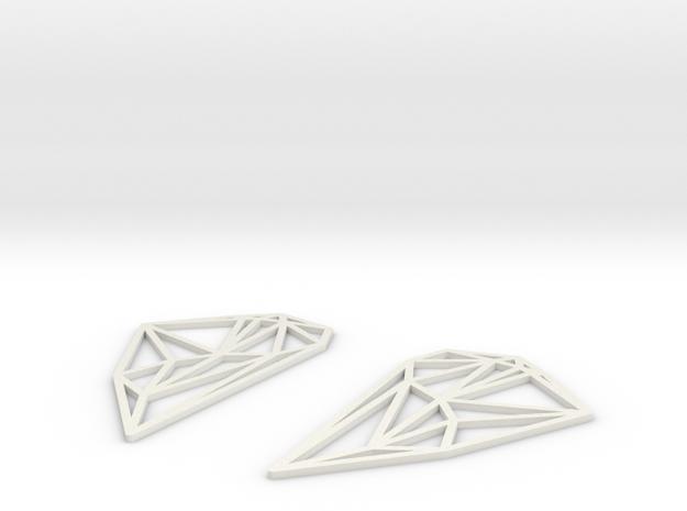South America Earrings 3d printed