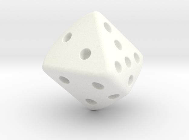 Warped Cube in White Processed Versatile Plastic