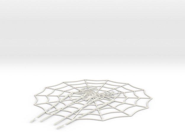 SpiderNet1.2 small in White Natural Versatile Plastic